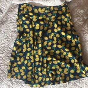 LOFT lemon skirt
